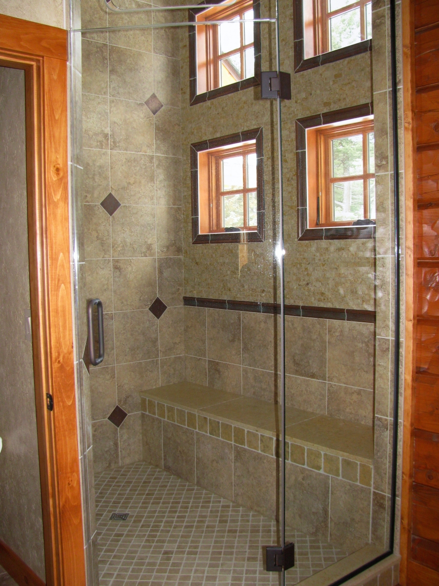 Tile Projects  Custom Shower Gallery Northern Glass - Custom showers