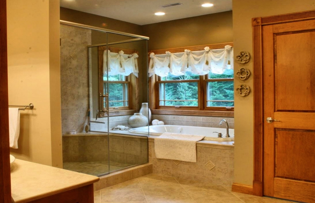 large glass shower
