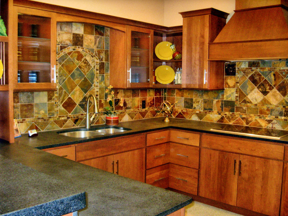 Choosing tile for your kitchen allows you to get creative with coloring and shapes.