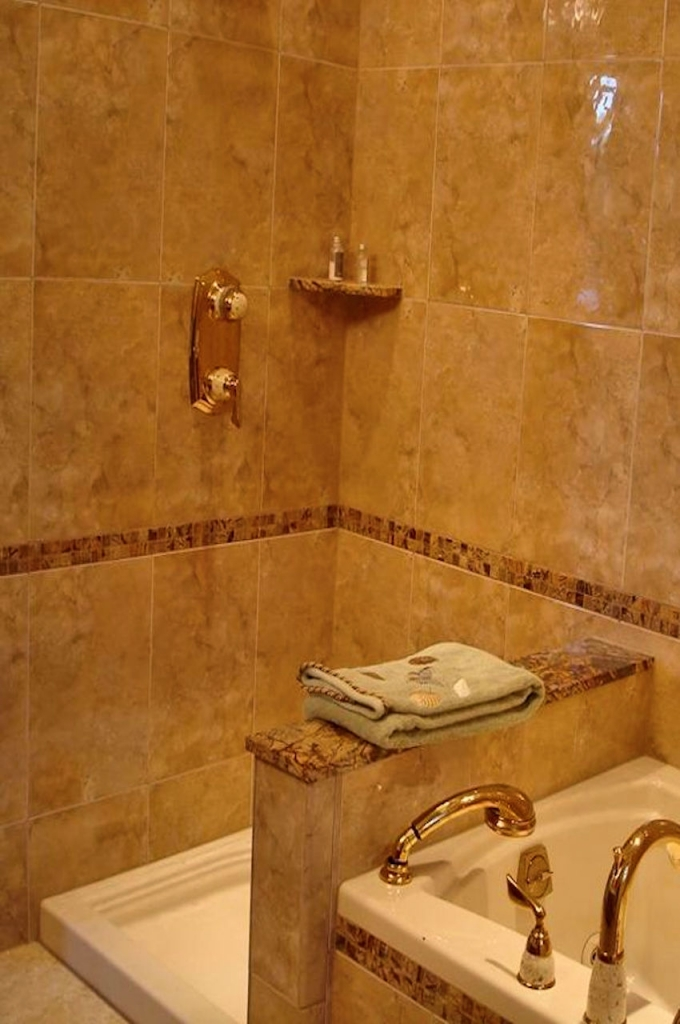 shower and bathtub tile